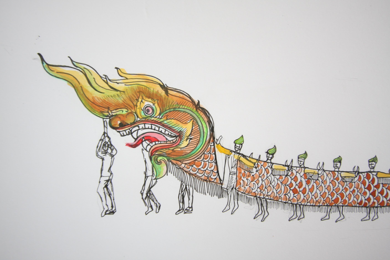カンボジアの神「マカラ」の踊り...