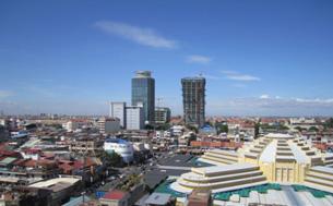 急成長を続ける首都プノンペン